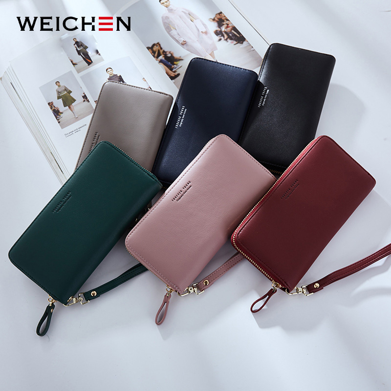 WEICHEN Wristband Women Long Clutch Wallet Large Capacity Wallets Female Purse Lady Purses Phone Pocket Card Holder Carteras 5