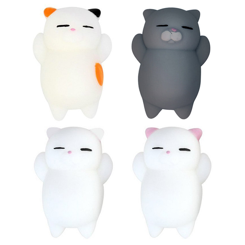 Cute Cat Squishy Slow Rising  Soft Press Squeeze Mini Squishi Toy Phone Straps Stress Reliever Kawaii Squishies Toys