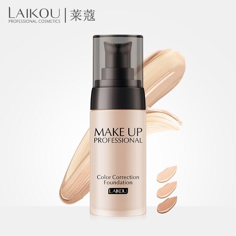 LAIKOU Fundação Maquiagem Base de Creme Para o Rosto Fundação Líquido Corretivo Clareamento Hidratante de controle de Óleo Maquiagem À Prova D' Água 40g