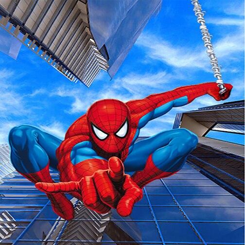 8x8FT Spiderman Homem Aranha Aranha Arranha Céu Azul Crianças Personalizado Estúdio Fotografia Fundos Backdrops Vinil 10x10