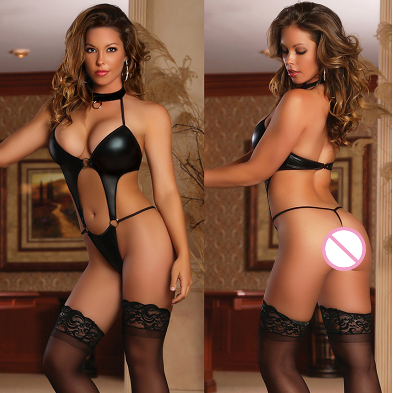 Leechee Q805 Women hot sexy lingerie temptation solid tights body suit leather stocking hollow out erotic underwear porn cotumes