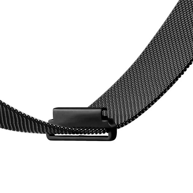 Stainless Steel 23mm Milanese Magnetic Loop Watch Band Wrist Strap for Fitbit Blaze Metal Bracelet Black Silver Rose Gold I88 crested luxury magnetic milanese loop wrist strap for fitbit charge 2 link bracelet stainless steel band adjustable closure