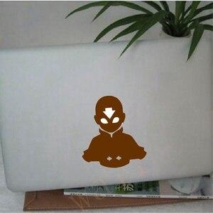 Image 2 - Pegatina de vinilo de Avatar Aang para portátil, logotipo de Apple, MacBook Retina Pro, decoración del aire
