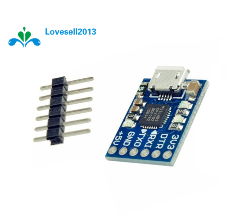 Free Shipping Micro USB CP2102 USB 2.0 To UART TTL Adapter Module 6Pin Serial Converter STC For Replace FT232 With Pins