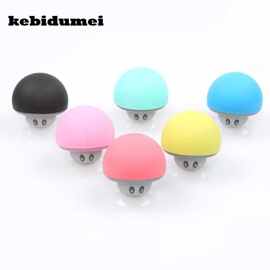 Kebidumei Mini Nirkabel Bluetooth Speaker Jamur Portable Tahan Air Shower Stereo Subwoofer Musik Player untuk iPhone Android