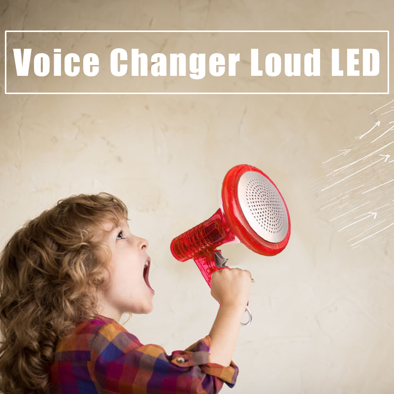 2018 Mini LED Voice Changer Funny Gadgets Loud Superbright Sound Effects Prank Novelty Toys For Children Kids
