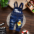 retail! 2016 Newborn baby pants boys girls baby Strap denim jumpsuit children's clothing pants baby trousers Children Rompers