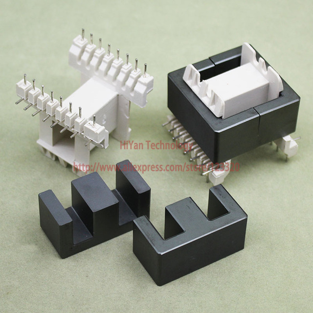 2sets/lot EE42-20 PC40 Ferrite Magnetic Core and 8 Pins + 8 Pins Side Entry Plastic Bobbin Customize Voltage Transformer