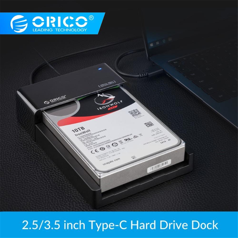 Boîtier disque dur haute vitesse ORICO boîtier disque dur 2.5 3.5 pouces SATA vers USB 3.1 Gen2 Type C SSD adaptateur disque dur boîtier externe