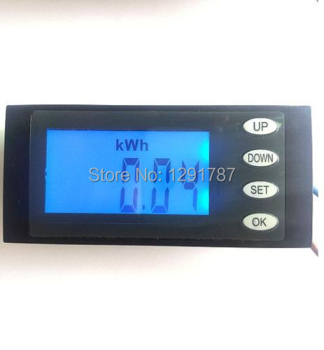 NEW AC 80-270v 110v 220v  Digital LED power meter monitor Voltage KWh time watt energy Volt Ammeter voltmeter