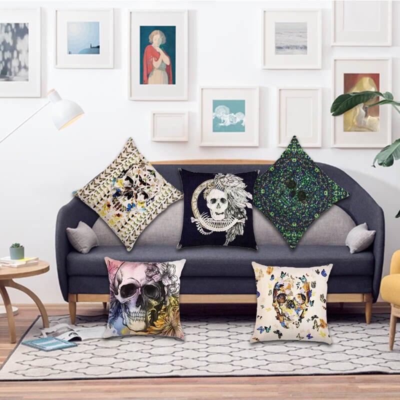 The Living Room No Sugar: Sugar Skull 45x45cm Square Cushion Cover For Living Room
