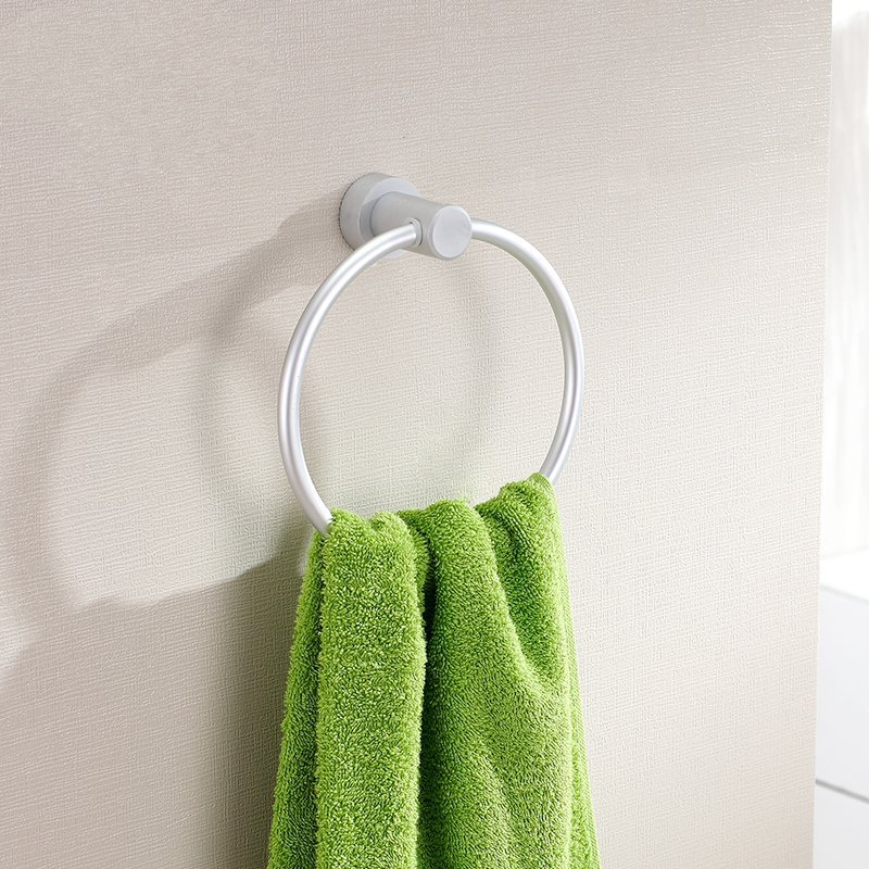 Space Aluminum Bathroom Towel Ring Bar Bar Towel Holder Wall Wall Hanging Towel Ring Towel
