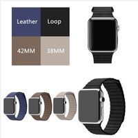Genuine Leather Loop Watchband For Apple Watchband 38mm 42mm Leather Loop Band With Magnetic Closure For