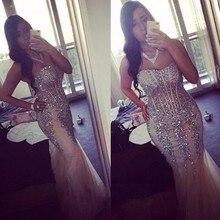 Elegante 2016 Meerjungfrau Abendkleider Sleeveless Formale Kleider Für Hochzeit Kommunion Vestido De Festa Longo Plus Größe