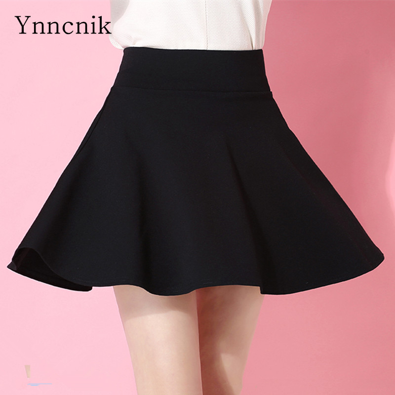 Ynncnik Women's Shorts Skirts Candy Colors Mini Pleated Skirts High Waist Plus Size Skirt With Shorts College Casual Wear S1066