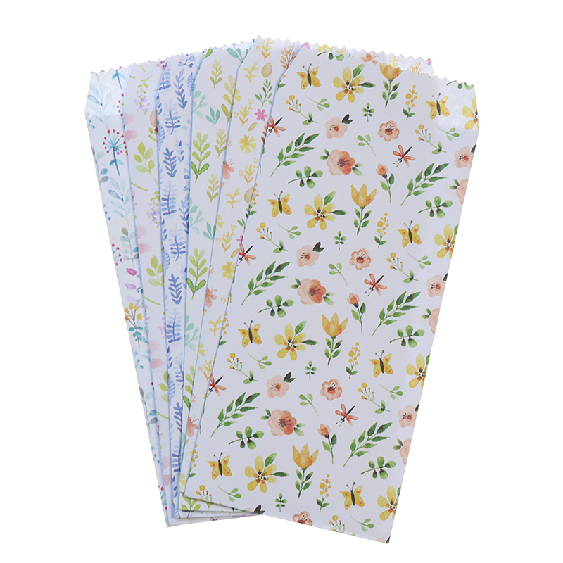6 Pieces / Set Mini Floral Embroidery Envelope Cute Cartoon Paper Korean Stationery Prize Writing Office Envelope Letter Paper