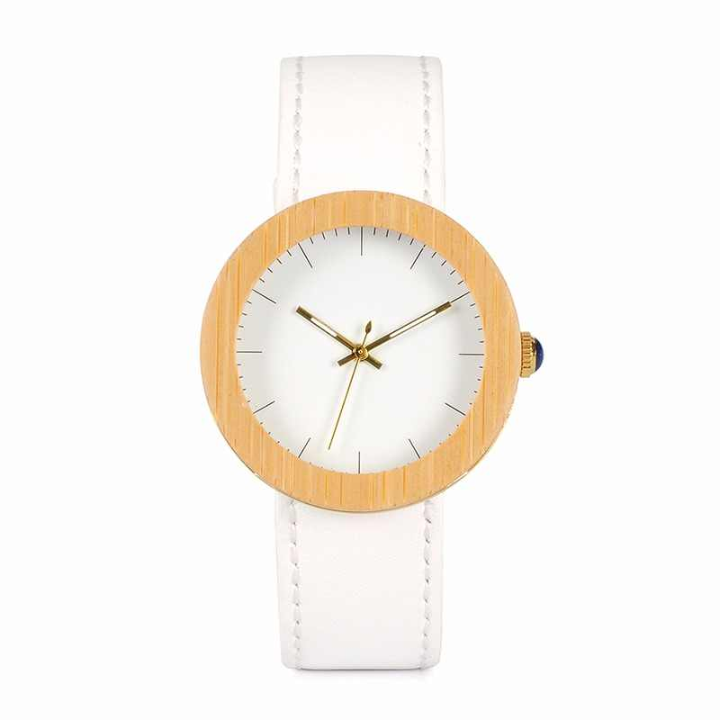 998edc69f3f BOBO BIRD Women Watches Top Brand Design Wood Wristwatch for Womens Leather  Band Ladies Gold Quartz
