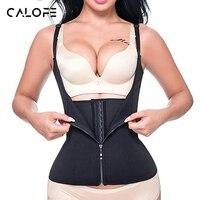 CALOFE Neoprene Anti Sweat Sport Vests Yoga Running Tank Top Sleeveless Zipper Singlet Black High Elastic