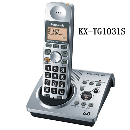 1 Auricular KX-TG1031S teléfono 1.9 GHz digital DECT 6.0 teléfono Inalámbrico con contestador automático