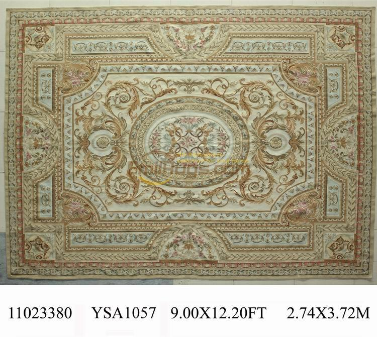 Handmade Wool Rug Carpet The Aubusson Savonnerie, A Handmade French Garden, Is Beautifully Embroidered With RugsHandmade Wool Rug Carpet The Aubusson Savonnerie, A Handmade French Garden, Is Beautifully Embroidered With Rugs