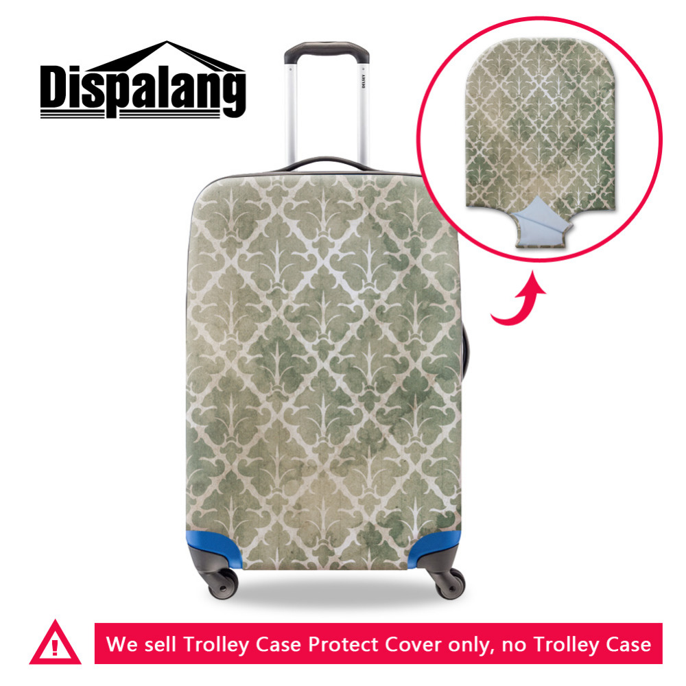 Cute Maple Leaf Print Luggage Protector Travel Luggage Cover Trolley Case Protective Cover Fits 18-32 Inch