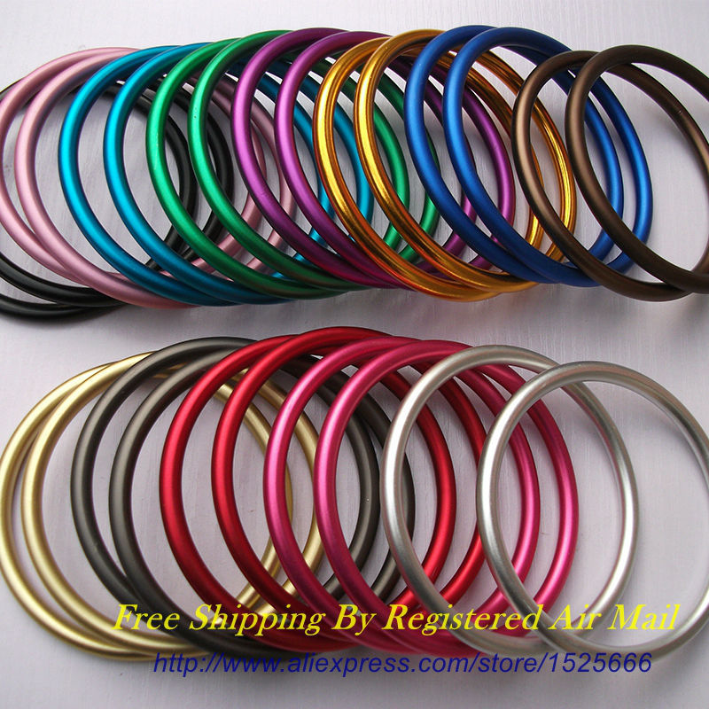 Free Shipping 40pcs 20pairs 3 Large Size Multiple Colors Available Sling Rings Aluminum DIY Your Baby