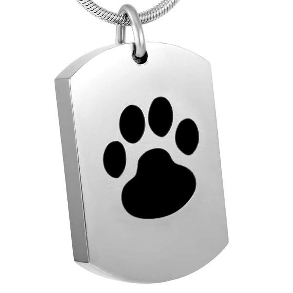 Wonderlijk CMJ8416 Graveerbare Paw Gedenkteken Urn Ketting, Hond Kat As MM-11