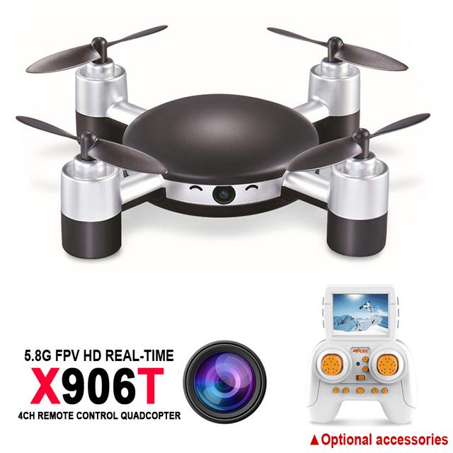 MJX X906T Mini RC Drone Quadrocopter 6-AXIS GYRO RC FPV Drone Helicóptero Cámara HD Wifi del Mando de Control Remoto Helicóptero de Juguete