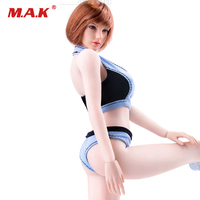 1/6 Scale Female Clothes Blue Black Sports Underwear Fitness Underclothes for 12'' Girl Seamless Body