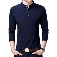 Spring Autumn Men S T Shirts Long Sleeve Cotton Comfortable Solid 5 Color O Neck Men