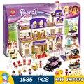 1585 unids 10547 bela amigos heartlake grand hotel modelo building blocks ladrillos emma stephanie niñas juguetes compatible con lego