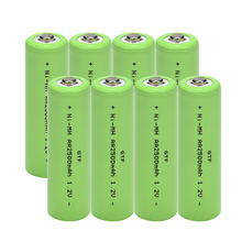 цены GTF AA rechargeable battery 2500mah 1.2V New Alkaline Rechargeable batery for led light toy mp3 Free shipping Drop shipping Cell