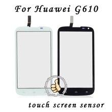 Черный Белый Передняя Стеклянная Линза + Сенсорный Экран Digitizer Для Huawei G610 Замена для ЖК-Экран Мобильного Телефона Чехол