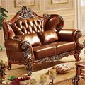 Высококачественный Европейский антикварный диван для гостиной  мебель из натуральной кожи  набор 10304