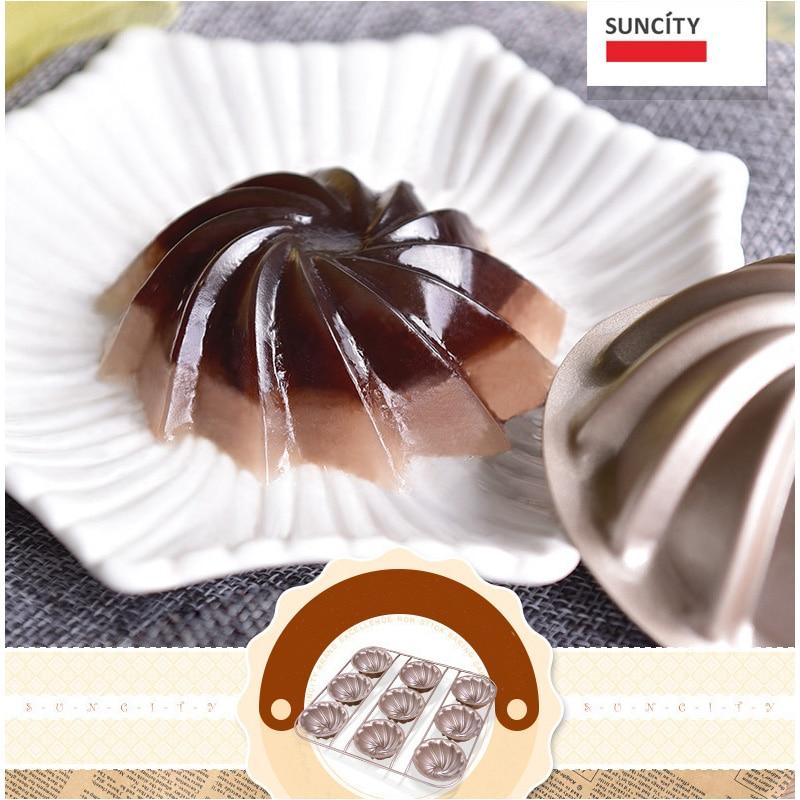 9 tazas Tarta Pan Metal antiadherente Forma de flor Muffin Cupcake - Cocina, comedor y bar - foto 5
