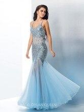 Abendkleider 2017 Robe de Soiree Luxus Kristalle Perlen Weg Von der Schulter Langes Abendkleid Meerjungfrau Abendkleid Vestidos y089