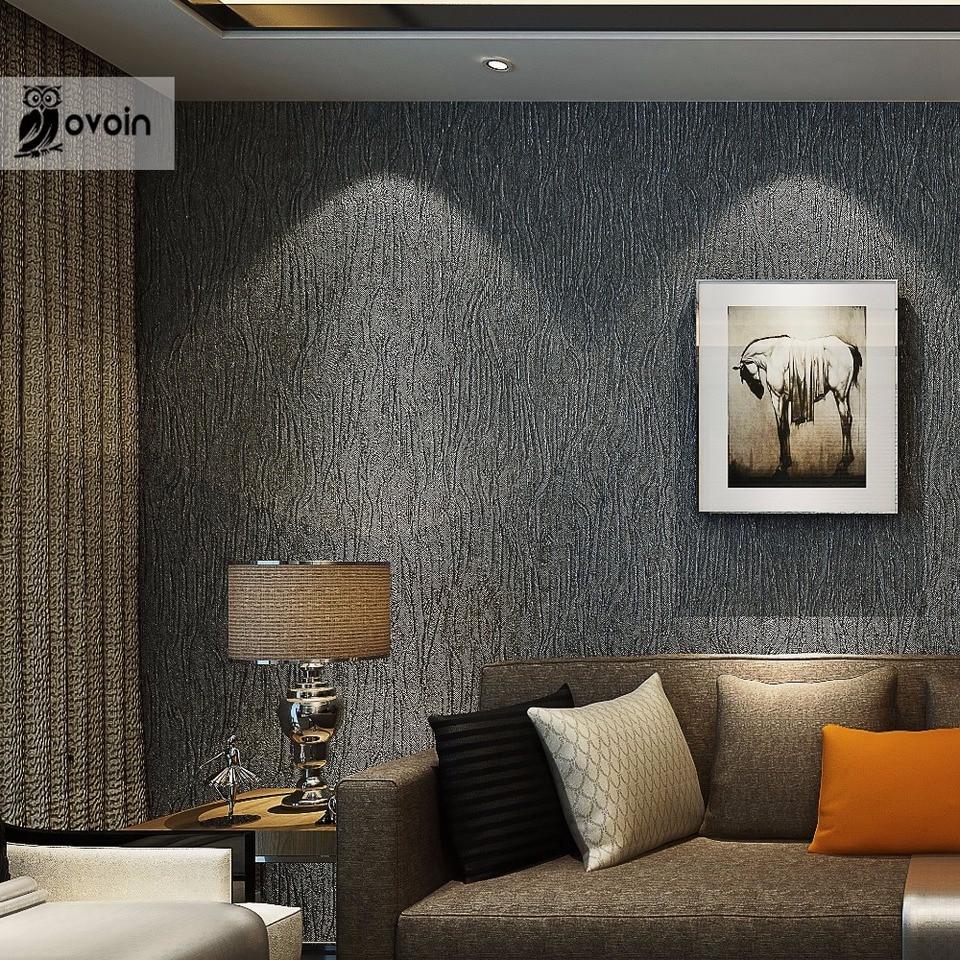 Silver Grey Black Metallic Textured Wallpaper Roll Gray Modern