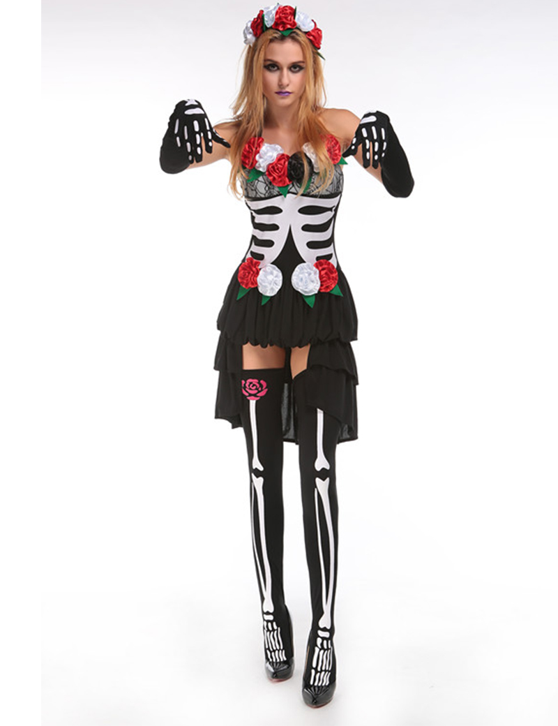 moonight gothic vampire ghost bride costumes for women halloween costume harlequin jester clown circus cosplay adult - Halloween Costumes Harlequin