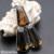 Hermosa Jóias Exclusivas Moda QUARTZO FUMÊ 925 Colar de Prata Pingentes 70 MM HM315
