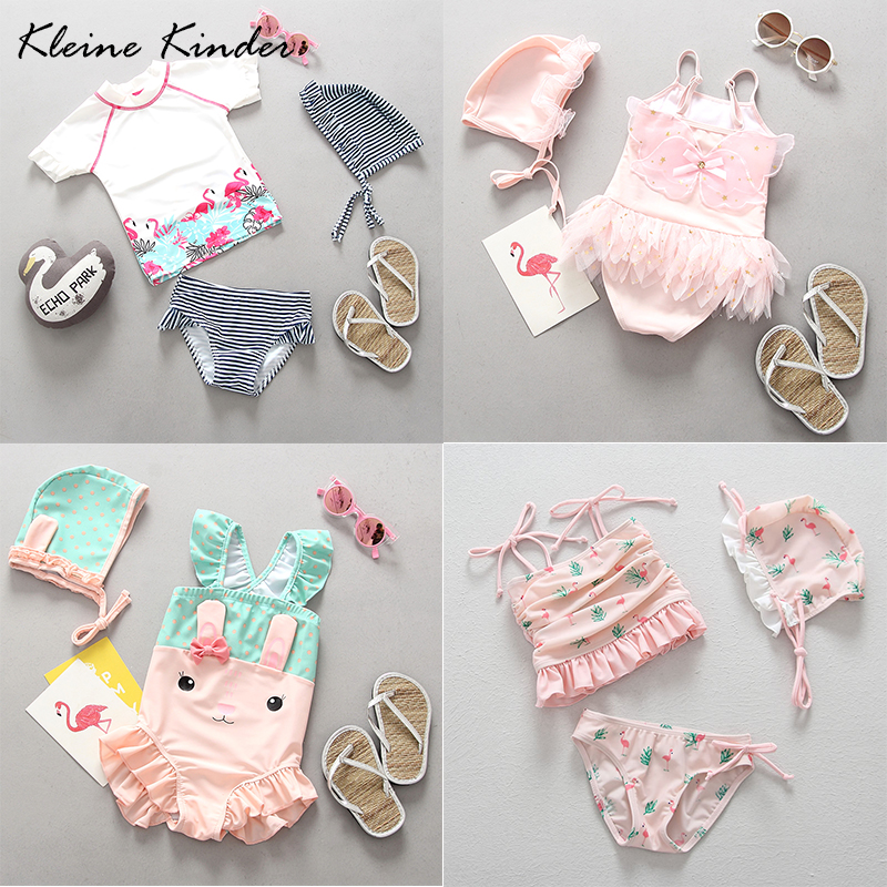 Baby Girl Flamingo Swimwear Children's Swimsuit Cartoon Lovely Bathing Suit Swimsuits For Girls Kids Bikini Tankini Beachwear