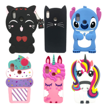 3D Cute Cartoon Cat Unicorn Stitch Case For Huawei P Smart Plus Cases Soft Silicone Cover Nova 3i Coque 3