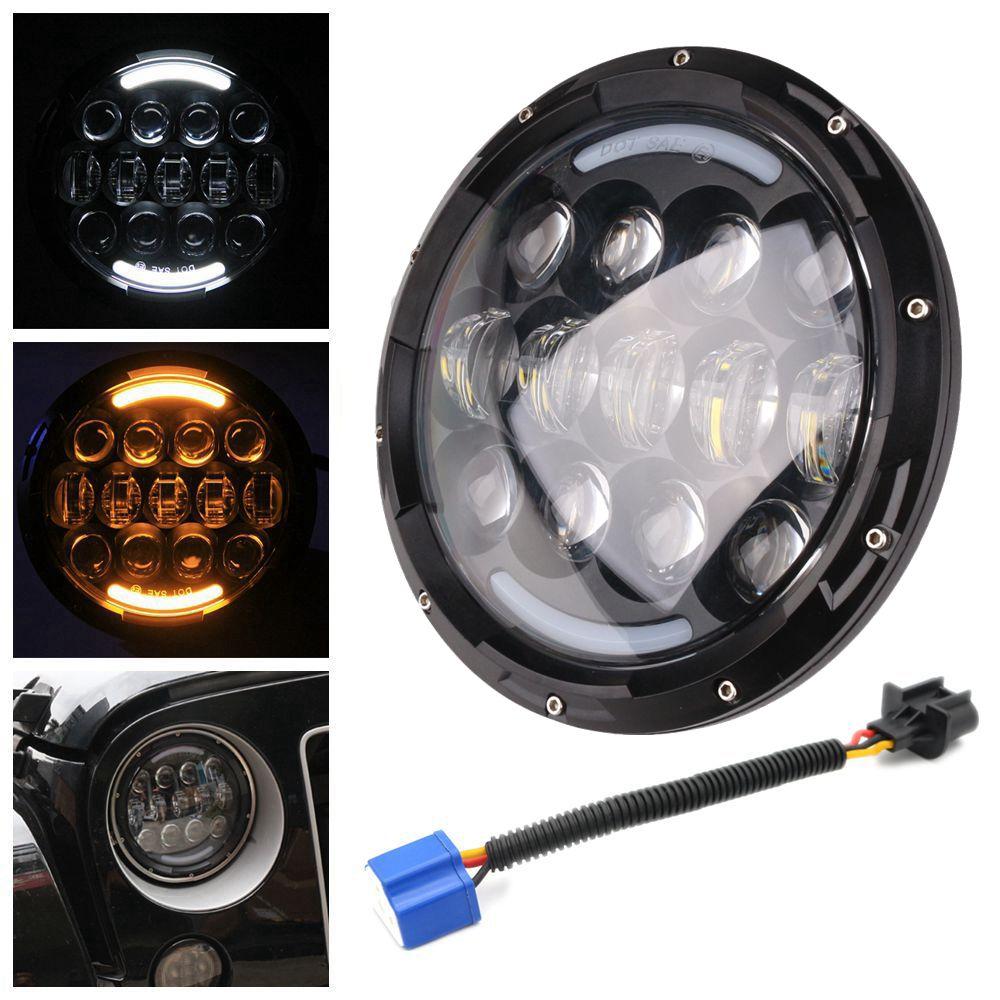 7inch 105W car LED Headlight for Jeep CJ/Wrangler JK Led Driving fog Light for Land Rover Defender H4 H13 Headlamp accessories