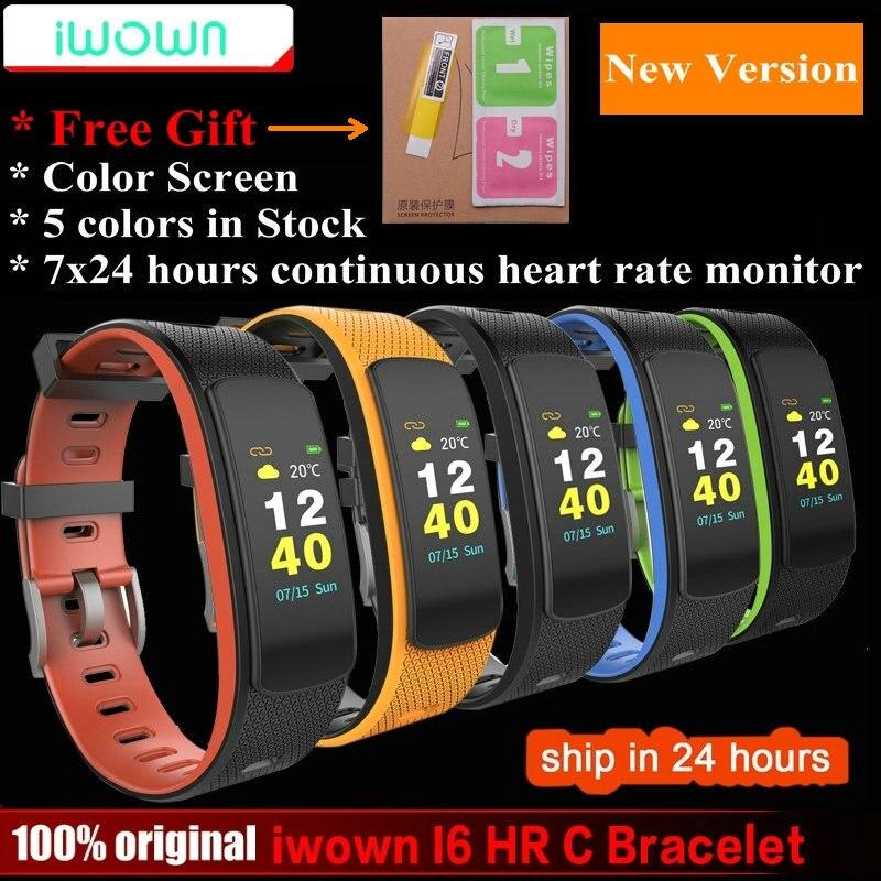 Iwown I6 HR c SmartBand Цвет Экран монитор сердечного ритма Смарт-браслет Спорт Smart Band Фитнес трекер VS Ми группа 1 s