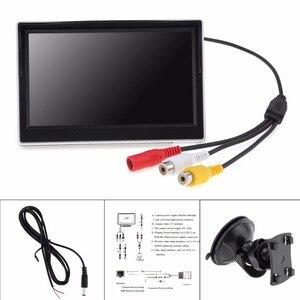 Image 2 - 5 นิ้ว TFT LCD 800x480 16:9 จอแสดงผลกระจกมองหลังรถยนต์ 2 ทิศทางสำหรับด้านหลังดูย้อนกลับกล้อง
