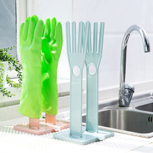 Plastic household gloves drain rack wipes Storage Holder table with drain water dish kitchen rack