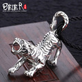 Domineering animal pendant Free give rope Beier 925 silver sterling tiger pendant necklace fashion jewelry  A1525
