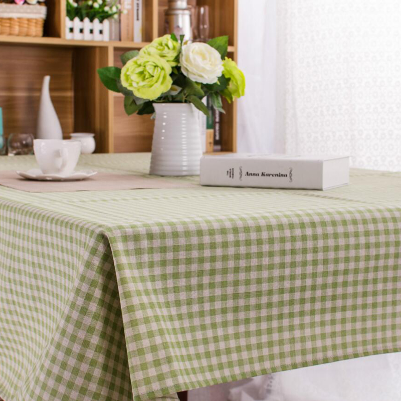 Country Style Tablecloth Plaid Black Pink Table Cover Dining Cotton Linen Cloth High Quality Kitchen Home Decoration In Tablecloths From Garden