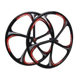 """Darmowa wysyłka koła 26 """"cali górskie koło rowerowe felgi rowerowe MTB Rim 6 szprychy koła do roweru górskiego stop magnezu 26 prędkości w Koła roweru od Sport i rozrywka na"""