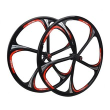 Free shipping wheels 26″ inches Mountain Bicycle Wheel bike rims MTB Rim 6 spokes mountain bike wheels magnesium alloy 26 speeds