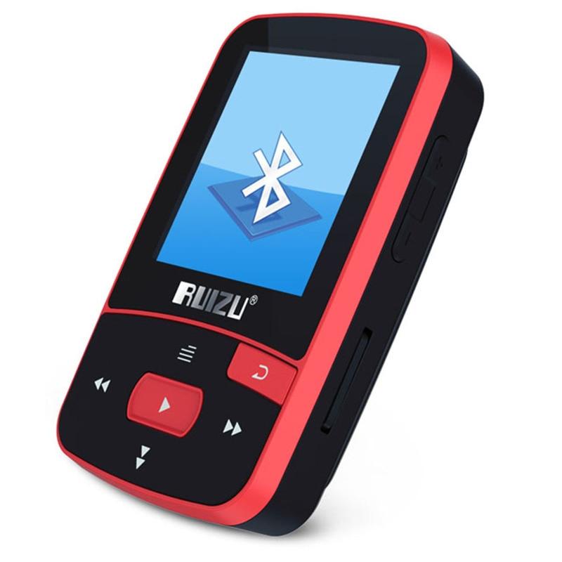 Original Ruizu X50 Sport Mini Bluetooth Mp3 Player Music Audio Mp 3 With  Radio Digital Hi-Fi Screen Fm Flac Usb 8Gb Lossless